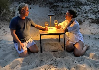 Flai portable lighting central support complete outdoor beach picknick